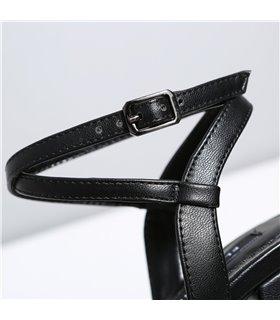 Ellie Tailor Dolly schwarz matt Plateau Sandalen Damen Herren Übergröße
