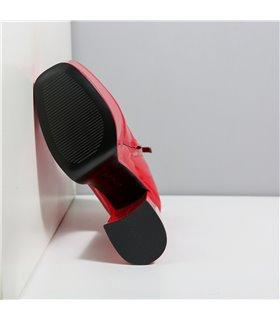 Ellie Tailor Antonia red shiny Ankle Boots Damen Herren Übergröße