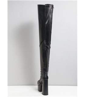 Elli Tailor Plateau Stiefellette Damen Herren Übergröße