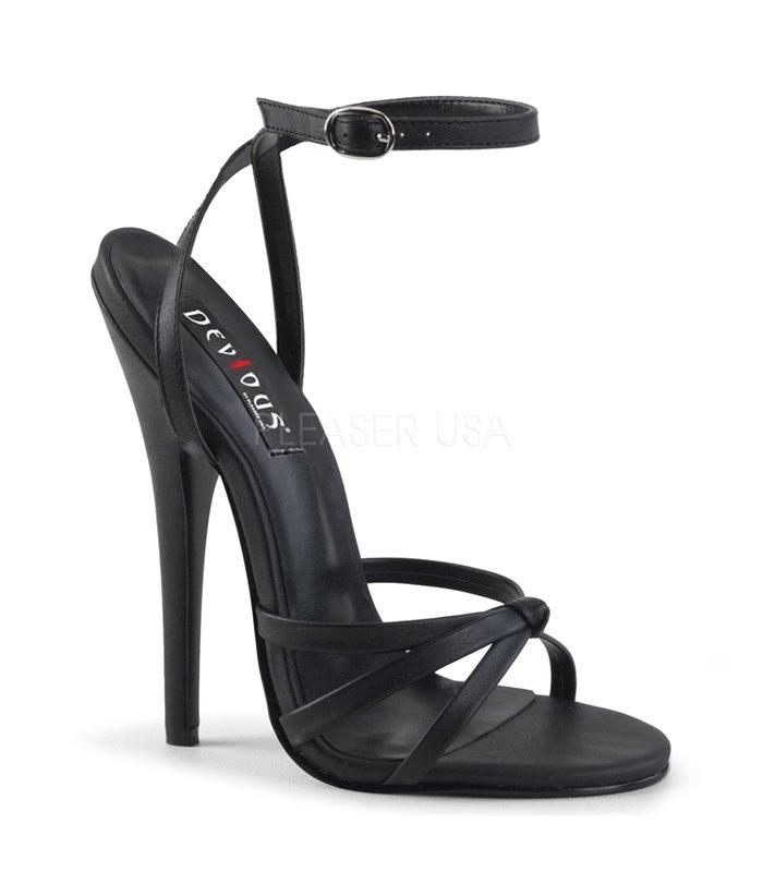 Extrem High Heels DOMINA-108 - PU Schwarz