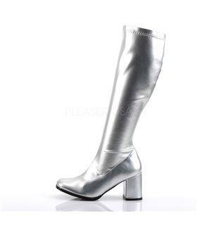 Retro Stiefel GOGO-300 - PU Silber