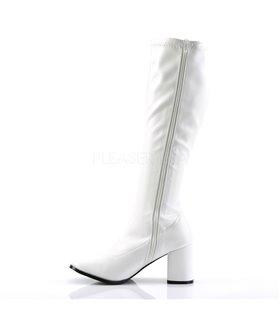 Retro Stiefel GOGO-300 - PU Weiß