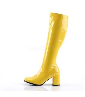 Retro Stiefel GOGO-300 - Lack Gelb