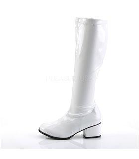 Retro Stiefel RETRO-300 - Lack Weiß