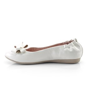 Pin Up Couture Ballerinas OLIVE-03 Weiss