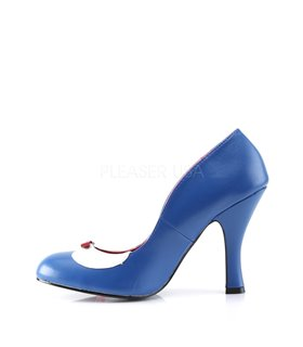 Pin Up Couture Pumps SMITTEN-05 Navy Blau-Weiss Kunstleder
