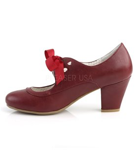 Retro Pumps WIGGLE-32 - Burgundrot