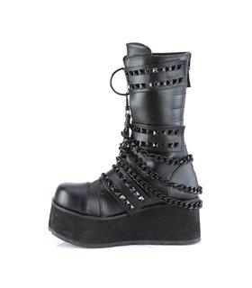Gothic Plateau Boots TRASHVILLE-138 -Black