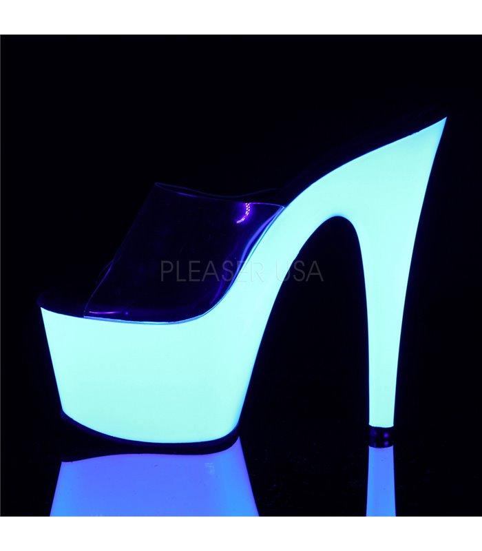 Neon Pantolette ADORE-701UV - Weiß