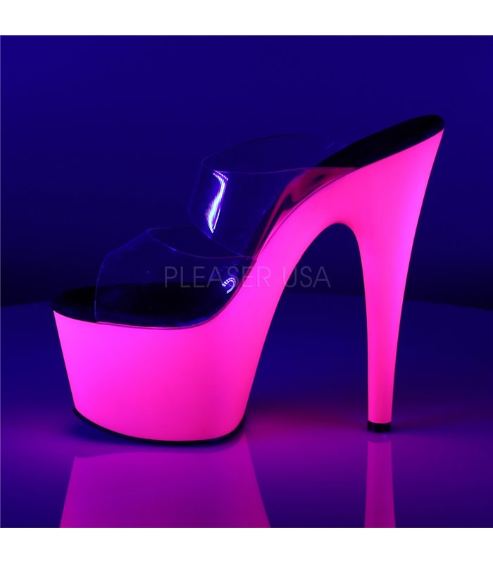 Plateau High Heels ADORE-702UV - Neon Pink
