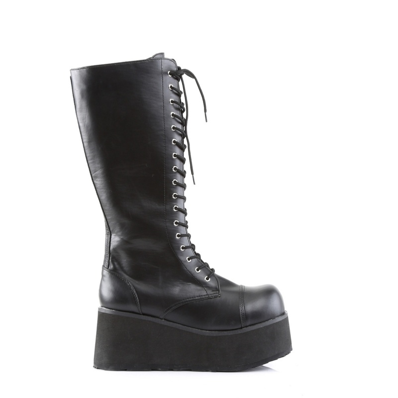Overknee Stiefel DAG3060//B//PU Extrem Hoch Schwarz Kunstleder EU 36-45
